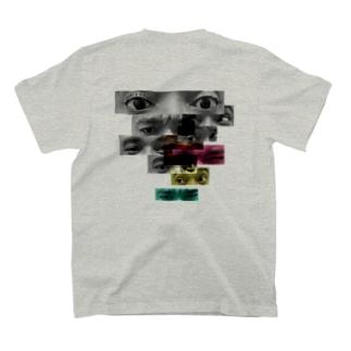 Eyes back print T-shirt T-shirts