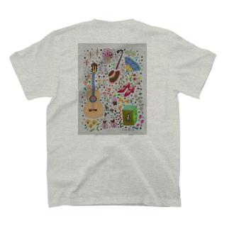 NatsuoYamaguchiのフラメンコベラーノTシャツ 表裏 楽器 バイラオーラ T-shirts