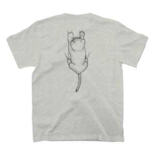 着ると背中に猫がしがみつく T-shirts