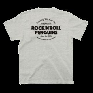 ちびきん工房のロックンロールペンギン T-shirtsの裏面