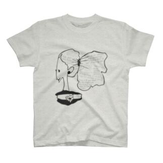 メッセージhairの女の子 T-shirts