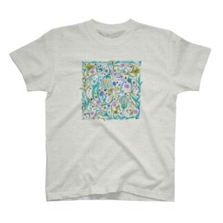 華やかエスニック T-shirts
