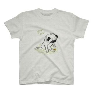 ヨガパグ T-shirts