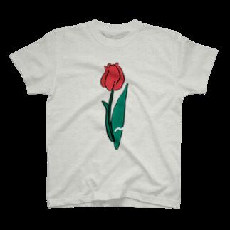 ぱんだがすきのちゅ〜りっぷ T-shirts