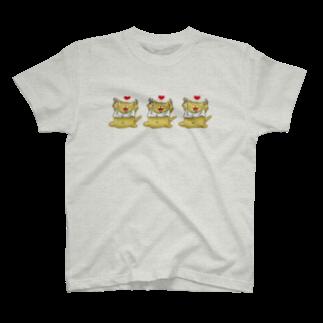 danamonianのトラちゃんトリオ T-shirts