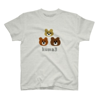kuma3 くま T-shirts