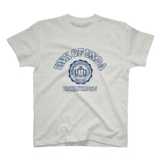 UNK  OF  UNDA(丸カレッジネイビー) T-shirts
