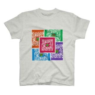 股間で日本を盛り上げ隊たいちょーQRコード T-shirts