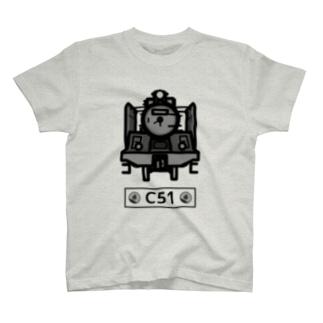 名入れ可「C51」蒸気機関車  T-shirts