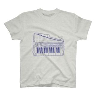 アンティーグレー(鍵盤ハーモニカ研究所オリジナルグッズ) T-shirts