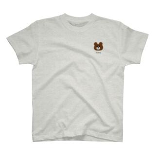 kuma くま ワンポイント T-shirts