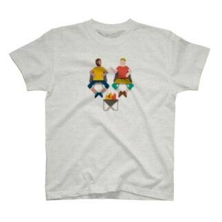T16.焚火おじさん T-shirts