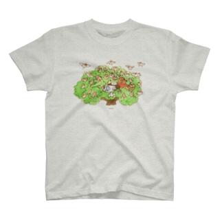 木の上のティータイム Tシャツ