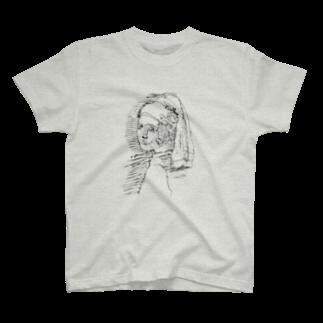 でんでんだいこんの落書き名画01 T-shirts