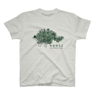 篠崎理一郎 × Nøgle (green) T-shirts