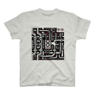 BF配管 スケルトン T-shirts