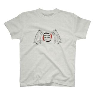 NO CATS,NOLIFE.(Tシャツ) T-shirts