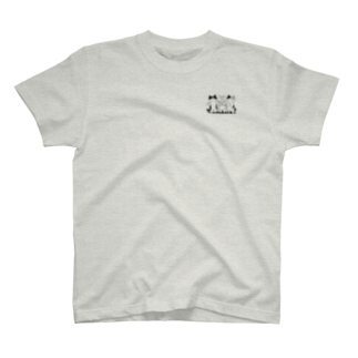 PygmyCat suzuri店の癒してあげ隊(モノクローム) T-shirts