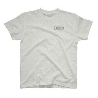 DEGU(しっぽ)ロゴ くろ T-shirts