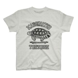 マルギナータさん カレッジロゴ T-shirts