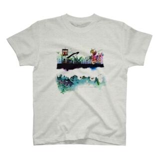 BARE FEET/猫田博人の七色の惑星 T-shirts