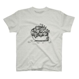 ちびギャラファミリー ラフ T-Shirt