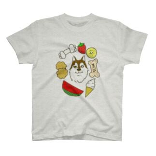 もぐもぐシッポちゃん T-shirts