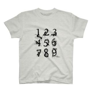 数字を運ぶアリ T-shirts