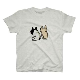 タツマキボタン(うしろ姿) T-shirts