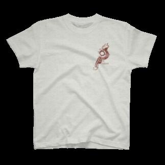 Smoking-Apparelの月と太陽 T-shirts