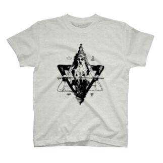 「汝、水面に映えし闇と結べ」 T-shirts