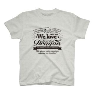 おちょこさん黒色プリント T-shirts