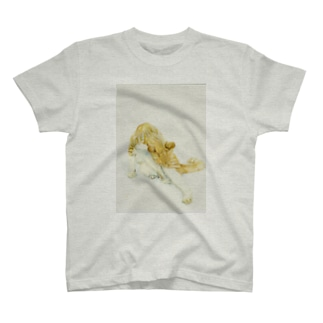 猫の毛繕い T-shirts