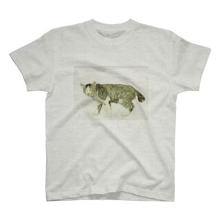 立ち睨む猫 T-shirts