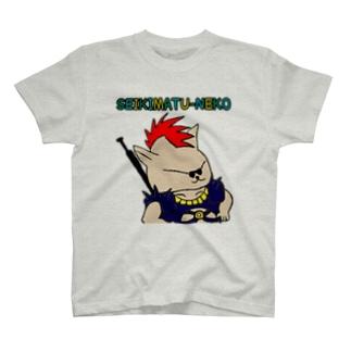 世紀末猫Tシャツ T-shirts