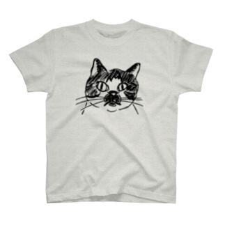 猫ねむりzzz..のブチ猫さん T-shirts
