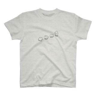 ころころ(モノクロ) T-shirts