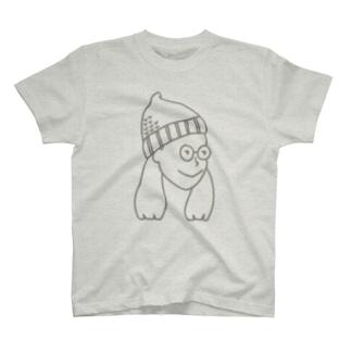 ニット帽の女の子 T-shirts