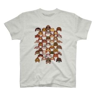 正面亀 T-shirts
