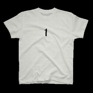 アメリカンベースの背番号 1 T-shirts