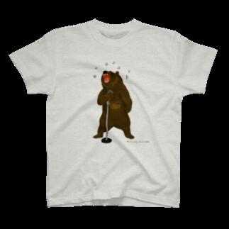 tomoucoのa singing bear T-shirts