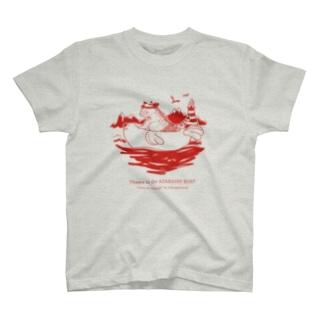 アザラシのボートで冒険するおさむ(赤) T-shirts