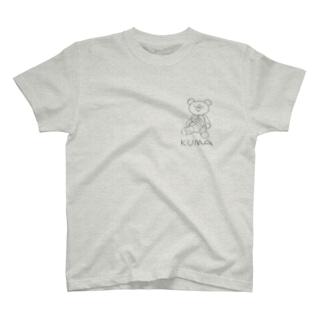 クマッタクマ胸プリント T-shirts