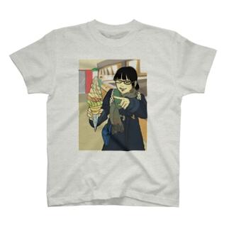しむと食べ物 T-shirts