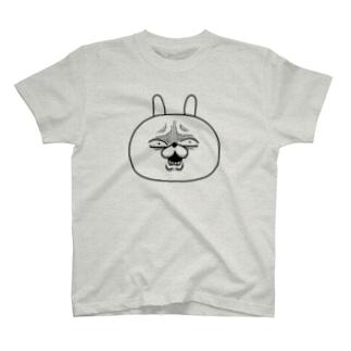 顔芸うさぎ は?ver. T-shirts