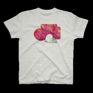 asahiruyoru_asaのトサカサク T-shirts