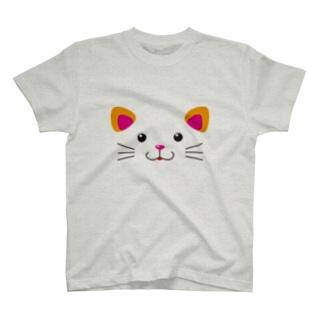 ねこフェイス T-shirts