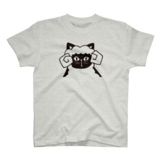 黒猫羊 T-shirts
