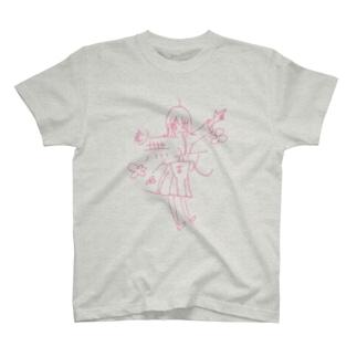 ピンクの無敵 T-shirts
