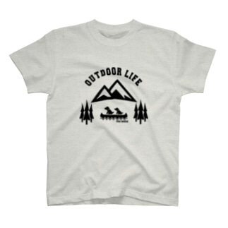 OUTDOOR LIFE黒 T-shirts
